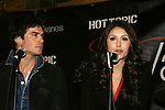 Vampire Diaries stars Ian Somerhalder, Nina Dobrev on January 30, 2010 during the Hot Topic Tour at the Westfield Garden State Plaza, Paramus, New Jersey where they signed autographs and held a Q & A session for a huge number of fans. (Photo by Sue Coflin/Max Photos)