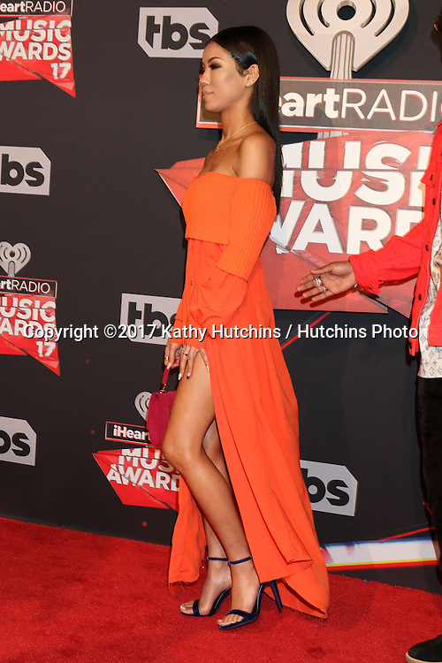 LOS ANGELES - MAR 5:  Jhene Aiko at the 2017 iHeart Music Awards at Forum on March 5, 2017 in Los Angeles, CA