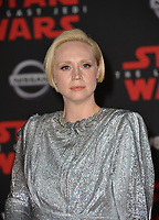 "Gwendoline Christie at the world premiere for ""Star Wars: The Last Jedi"" at the Shrine Auditorium. Los Angeles, USA 09 December  2017<br /> Picture: Paul Smith/Featureflash/SilverHub 0208 004 5359 sales@silverhubmedia.com"