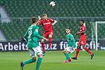 Mitchell Weiser (Leverkusen #23), <br /> Milot Rashica (Werder Bremen #07)<br /> Edmond Tapsobsa (Leverkusen #12),  <br /> Marco Friedl (Werder Bremen #32)<br /> <br /> Sport: Fussball: 1. Bundesliga: Saison 19/20: <br /> 26. Spieltag: SV Werder Bremen vs Bayer 04 Leverkusen, 18.05.2020<br /> <br /> Foto ©  gumzmedia / Nordphoto / Andreas Gumz / POOL <br /> <br /> Nur für journalistische Zwecke! Only for editorial use!<br />  DFL regulations prohibit any use of photographs as image sequences and/or quasi-video.