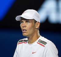 TOMAS BERDYCH (CZE) against RAFAEL NADAL (ESP)  in the Quarter Finals of the Men's Singles. Rafael Nadal beat Tomas Berdych 6-7 7-6 6-4 6-3  ..24/01/2012, 24th January 2012, 24.01.2012 - Day 9..The Australian Open, Melbourne Park, Melbourne,Victoria, Australia.@AMN IMAGES, Frey, Advantage Media Network, 30, Cleveland Street, London, W1T 4JD .Tel - +44 208 947 0100..email - mfrey@advantagemedianet.com..www.amnimages.photoshelter.com.