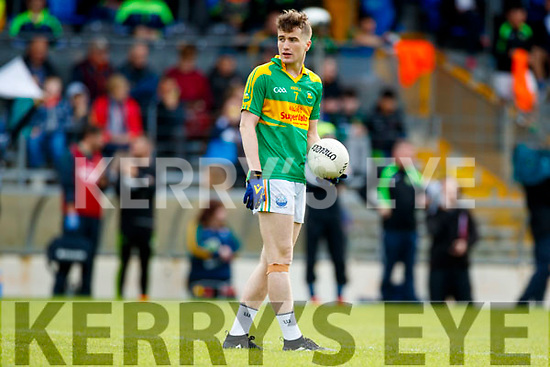 Robert Wharton South Kerry in action against  Kerins O'Rahillys in the Kerry Senior Football Championship Semi Final at Fitzgerald Stadium on Saturday.