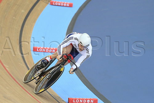 04.03.2016. Lee valley Velo Centre. London England. UCI Track Cycling World Championships Mens sprint qualifications races.    KENNY Jason (GBR)