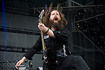 Oli Herbert of All That Remains performs during the 2013 Rock On The Range festival at Columbus Crew Stadium in Columbus, Ohio.