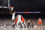 02 APR 2016:  Isaiah Hicks (4) of the University of North Carolina grabs a rebound against Syracuse University during the NCAA Division I Men's Final Four held at NRG Stadium in Houston, TX.  North Carolina defeated Syracuse 83-66 to advance to the finals.  Jamie Schwaberow/NCAA Photos