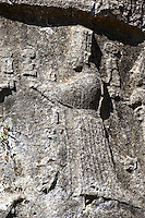 Picture of Yazilikaya [ i.e written riock ], Hattusa  The largest known Hittite sanctuary. 13th century BC made in the reign of Tudhaliya 1V . 11