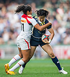 Canada vs Japan during the HSBC Women Sevens Wold Series Final match as part of the Cathay Pacific / HSBC Hong Kong Sevens at the Hong Kong Stadium on 27 March 2015 in Hong Kong, China. Photo by Xaume Olleros / Power Sport Images