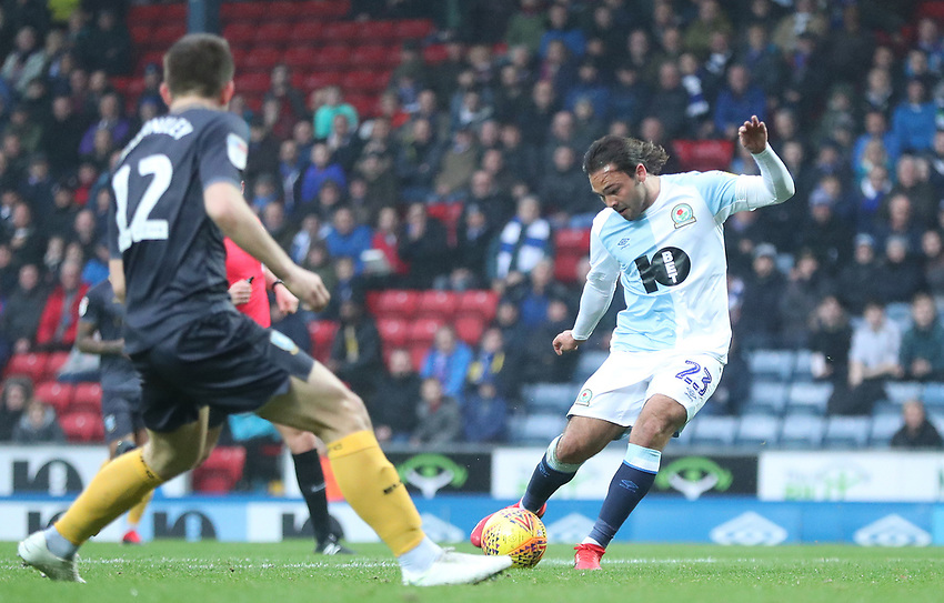 Blackburn Rovers' Bradley Dack<br /> <br /> Photographer Rachel Holborn/CameraSport<br /> <br /> The EFL Sky Bet Championship - Blackburn Rovers v Sheffield Wednesday - Saturday 1st December 2018 - Ewood Park - Blackburn<br /> <br /> World Copyright © 2018 CameraSport. All rights reserved. 43 Linden Ave. Countesthorpe. Leicester. England. LE8 5PG - Tel: +44 (0) 116 277 4147 - admin@camerasport.com - www.camerasport.com