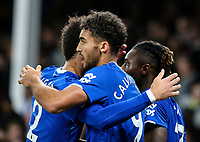 Everton's Dominic Calvert-Lewin celebrates scoring his side's second goal with teammates<br /> <br /> Photographer Alex Dodd/CameraSport<br /> <br /> The Premier League - Everton v Newcastle United  - Tuesday 21st January 2020 - Goodison Park - Liverpool<br /> <br /> World Copyright © 2020 CameraSport. All rights reserved. 43 Linden Ave. Countesthorpe. Leicester. England. LE8 5PG - Tel: +44 (0) 116 277 4147 - admin@camerasport.com - www.camerasport.com