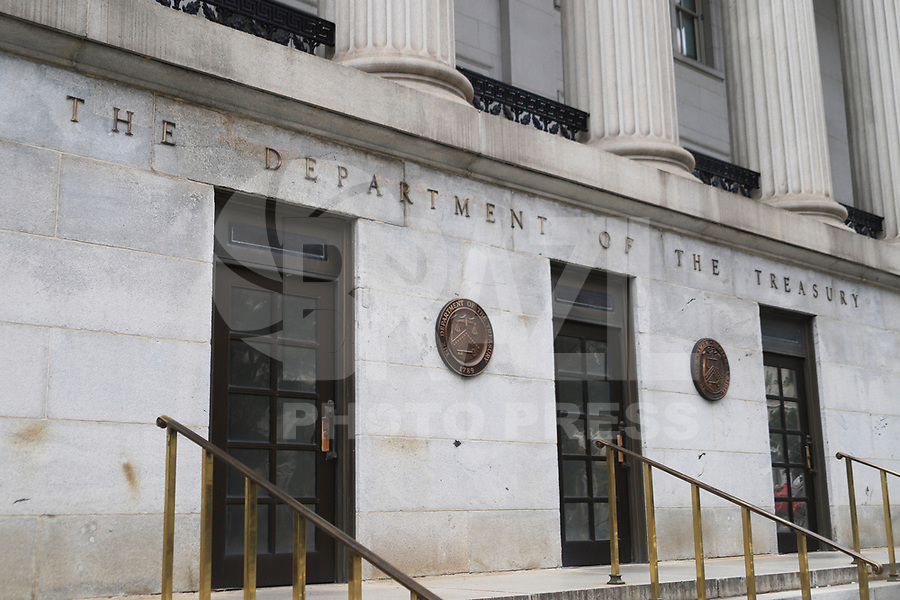 WASHINGTON DC, EUA, 08.10.2019 - POLITICA-WASHINGTON DC - Departamento do Tesouro, na cidade de Washington DC, capital dos Estados Unidos, nesta terça-feira, 8. (Foto Charles Sholl/Brazil Photo Press/Folhapress)