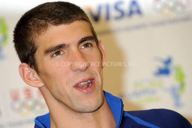 WWW.ACEPIXS.COM . . . . .....August 28, 2008. New York City,....Gold medal swimmer Michael Phelps announces the Visa Grant for Early Swimming Program at the McBurney YMCA on August 28, 2008 in New York City...  ....Please byline: Kristin Callahan - ACEPIXS.COM..... *** ***..Ace Pictures, Inc:  ..Philip Vaughan (646) 769 0430..e-mail: info@acepixs.com..web: http://www.acepixs.com