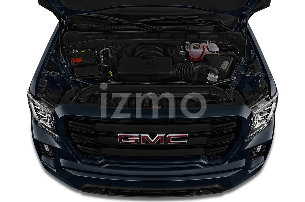 Car Stock 2019 GMC Sierra-1500 Elevation 4 Door Pickup Engine  high angle detail view
