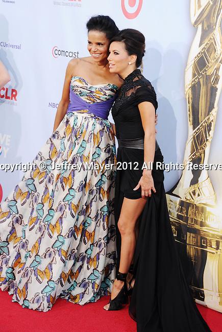 PASADENA, CA - SEPTEMBER 16: Victoria Rowell and Eva Longoria arrive at the 2012 NCLR ALMA Awards at Pasadena Civic Auditorium on September 16, 2012 in Pasadena, California.