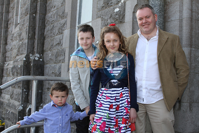 Caoimhe Laverty and family at Tullyallen NS. Confirmation...(Photo credit should read Jenny Matthews www.newsfile.ie)....This Picture has been sent you under the conditions enclosed by:.Newsfile Ltd..The Studio,.Millmount Abbey,.Drogheda,.Co Meath..Ireland..Tel: +353(0)41-9871240.Fax: +353(0)41-9871260.GSM: +353(0)86-2500958.email: pictures@newsfile.ie.www.newsfile.ie.