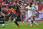 14.04.2018, BayArena, Leverkusen , GER, 1.FBL., Bayer 04 Leverkusen vs. Eintracht Frankfurt<br /> im Bild / picture shows: <br /> Kai Havertz (Leverkusen #29),  <br /> Jonathan De Guzman (Frankfurt #6),  <br /> <br /> <br /> Foto &copy; nordphoto / Meuter