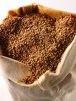 Ground Nutmeg powder - stock photos