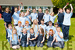 the schoolchildren celebrating  the Castledrum NS 150th anniversary on Thursday