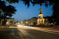 Brescia nella foto piazzale Arnaldo notturno geografico Brescia 17/03/2017 foto Matteo Biatta<br /> <br /> Brescia in the picture piazzale Arnaldo by night geographic Brescia 17/03/2017 photo by Matteo Biatta