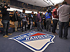 Members of the media congregate inside the New York Rangers locker room at Madsion Square Garden Training Center in Greenburgh, NY on Thursday, May 11, 2017. The Rangers' season ended on Tuesday, May 9 when the team lost to the Ottawa Senators four games to two in the second round of the Stanley Cup Playoffs.
