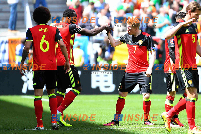 Lukaku Romelu forward of Belgiumn, De Bruyne Kevin forward of Belgium <br /> Bordeaux 18-06-2016 Stade de Bordeaux Football Euro2016 Belgium - Ireland / Belgio - Irlanda Group Stage Group E. Foto Vincent Kalut / Photonews / Panoramic / Insidefoto