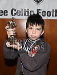 Ardee Celtic Under 11 player of the year Oisín O'Brien at the Ardee Celtic annual awards night in Ardee parish centre. Photo:Colin Bell/pressphotos.ie