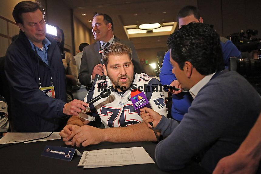 OT Sebastian Vollmer (Patriots) - Super Bowl XLIX New England Patriots Team-PK, Sheraton Arizona Grand Hotel