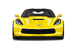 Car photography straight front view of a 2017 Chevrolet Corvette Grand-Sport-2LT 3 Door Coupe Front View