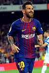League Santander 2017/2018. Game: 03.<br /> FC Barcelona vs RCD Espanyol: 5-0.<br /> Lionel Messi.