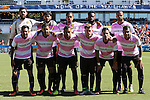 09 October 2016: Fort Lauderdale starters. Front row (from left): Paulo Junior (BRA), Jose Angulo (COL), Geison Moura (BRA), Manny Gonzalez (COL), Jorge Luis Corrales (CUB), Junior Sandoval (HON). Back row (from left): Bruno Cardoso (BRA), Dalton (BRA), Bryan Arguez, Gale Agbossoumonde, and Maicon Santos (BRA). The Carolina RailHawks hosted the Fort Lauderdale Strikers at WakeMed Soccer Park in Cary, North Carolina in a 2016 North American Soccer League Fall Season match. Carolina won the game 3-0.