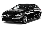2017 Mercedes Benz CLA-Class - 5 Door wagon Angular Front stock photos of front three quarter view