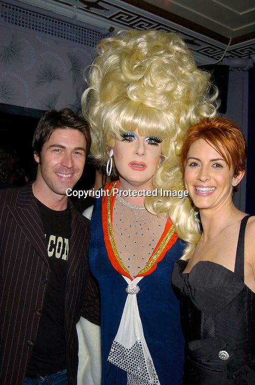 "Kyan Douglas, Lady Bunny and Michelle Clunie ..at the New York Premiere party for the new season of   Showtimes""Queer As Folk""  which starts on April 18, 2004. ..The party was at The Gramercy Park Hotel on March 31, 2004. ..Photo by Robin Platzer, Twin Images"