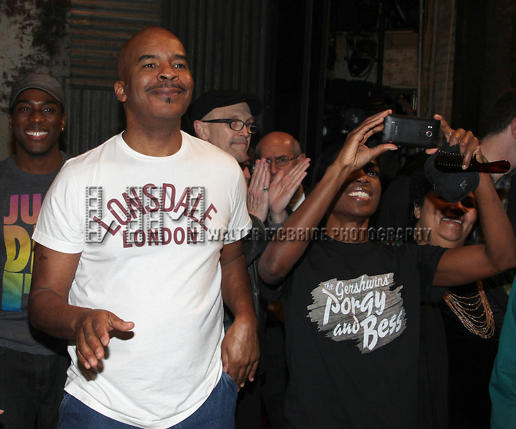 David Alan Grier & Company.attending the Opening Night Performance Gypsy Robe Ceremony for 'The Gershwins' Porgy & Bess' Recipient J.D. Webster at the Richard Rodgers Theatre in New York City. 1/12/2012