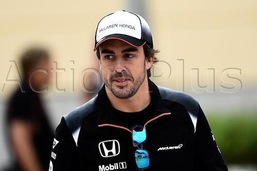 01.04.2016. Bahrain. FIA Formula One World Championship 2016, Grand Prix of Bahrain, Practise day.  Fernando Alonso, McLaren Honda, formula 1 GP