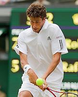 24-06-10, Tennis, England, Wimbledon, Robin Haase  in zijn partij tegen Rafael Nadal