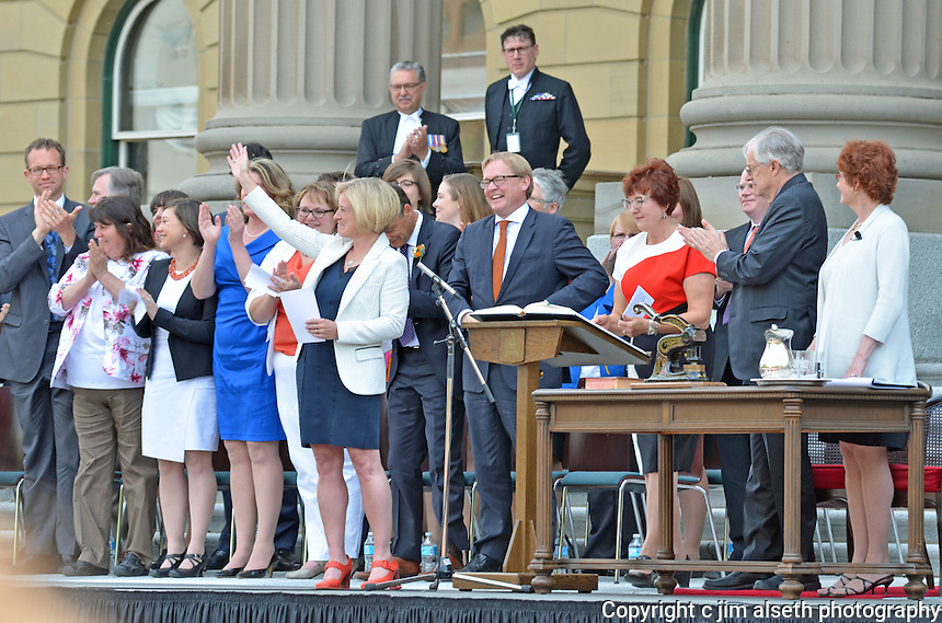 The official swearing-in ceremony of the new Premier of Alberta, Rachel Notley, was an historic public event...