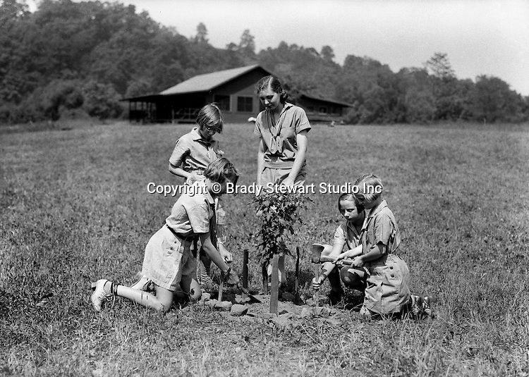 East McKeesport PA:  Girl Scouts planting trees at Camp Youghahela - 1925