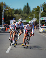 The Japan national team competes in race one of the Trust House Women's Cycle Tour Of New Zealand in Masterton, New Zealand on Wednesday, 18 February 2015. Photo: Dave Lintott / lintottphoto.co.nz