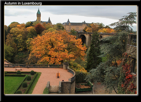 City of Luxembourg in autumn, Luxembourg.