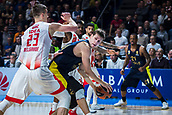 22nd March 2018, Aleksandar Nikolic Hall, Belgrade, Serbia; Turkish Airlines Euroleague Basketball, Crvena Zvezda mts Belgrade versus Fenerbahce Dogus Istanbul; Center Jan Vesely of Fenerbahce Dogus Istanbul in action against Center Alan Omic of Crvena Zvezda mts Belgrade under the basket