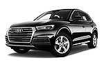 Stock pictures of low aggressive front three quarter view of 2017 Audi Q5 Sport 5 Door SUV Low Aggressive