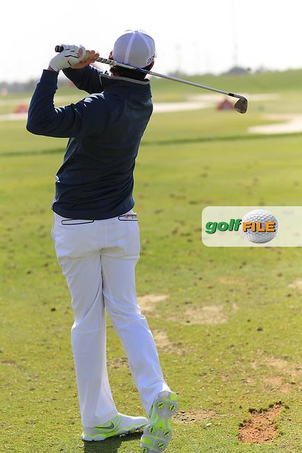 Rory McIlroy Swing sequence at the Abu Dhabi HSBC Golf Championship in the Abu Dhabi golf club, Abu Dhabi, UAE..Picture: Fran Caffrey/www.golffile.ie.
