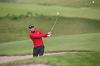 Benjamin Hebert (FRA) plays out of the bunker on the first hole during Round Two of the 2015 Nordea Masters at the PGA Sweden National, Bara, Malmo, Sweden. 05/06/2015. Picture David Lloyd | www.golffile.ie