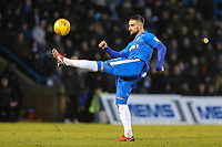 Max Ehmer of Gillingham during the Sky Bet League 1 match between Gillingham and Fleetwood Town at the MEMS Priestfield Stadium, Gillingham, England on 27 January 2018. Photo by David Horn.
