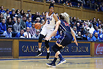 DURHAM, NC - DECEMBER 29: Duke's Leaonna Odom. The Duke University Blue Devils hosted the Liberty University Flames on December 29, 2017 at Cameron Indoor Stadium in Durham, NC in a Division I women's college basketball game. Duke won the game 68-51.
