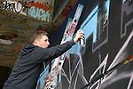Graffiti artist Finbarr McHugh www.newsfile.ie www.newsfile.ie www.newsfile.ie
