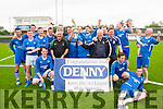 Champions<br /> ----------------<br /> Skeliga celebrate their win against Castleisland B in the Division 1 final of the Kerry district at Mounthawk Park,Tralee last Sunday evening