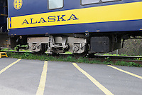 The Alaska Railroad's Coastal Classic train stopped at the Seward Depot.