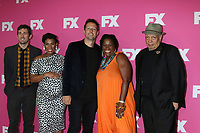 LOS ANGELES - AUG 6:  Carter Hudson, Angela Lewis, Dave Andron, Michael Hyatt, Walter Mosley at the FX Networks Starwalk at Summer 2019 TCA at the Beverly Hilton Hotel on August 6, 2019 in Beverly Hills, CA