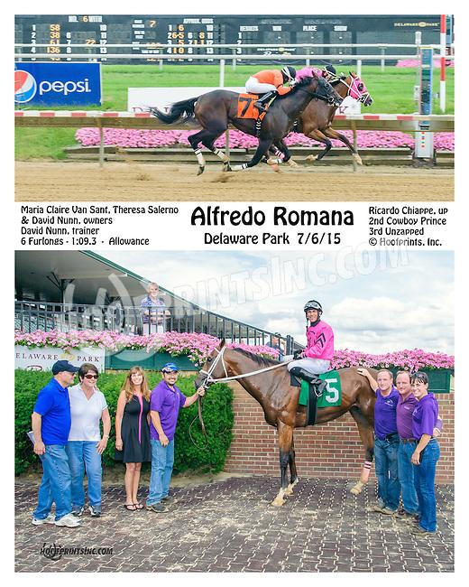 Alfredo Romana winning at Delaware Park on 7/6/15