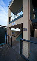 STANFORD, CA - April 14, 2011: The box seat entrance at the Taube Family Tennis Center on Stanford's campus.
